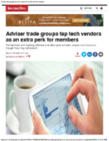 Adviser trade groups tap tech vendors as an extra perk for members – IN 5-17-16