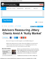 Advisors Reassuring Jittery Clients Amid A 'Nutty Market' _ Insurance News Net 1-7-16