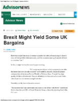Brexit Might Yield Some UK Bargains – InsuranceNewsNet  7-6-16