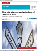 Financial advisers, analysts shrug off recession fears 2-29-16