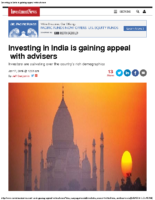 Investing in India is gaining appeal with advisers 1-19-16