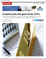 Investors pile into gold funds, ETFs Investment News 3-4-16
