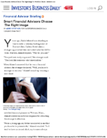 Smart Financial Advisors Choose The Right Image To Win Over Clients – Investors Bus Daily 12-21-15