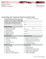 Answering The Financial Questions That Count