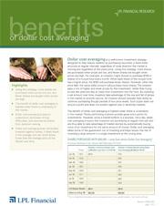 Benefits of Dollar Cost Averaging