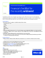 Financial Checklist For Recently Widowed