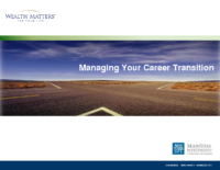 Managing Your Career Transition