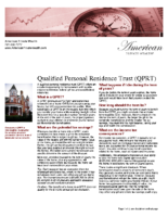 Qualified Personal Residence Trust (QPRT)