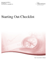 Starting Out Checklist