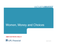 Women Money & Choices