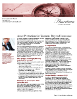 Asset Protection for Women – Beyond Insurance