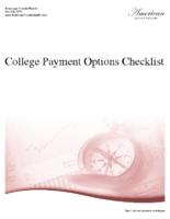 College Payment Options Checklist