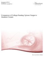 Comparison of College-Funding Options Unique to Business Owners