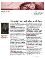 Financial Survival After a Job Loss