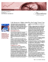 Life Insurance Riders that Pay for Long-Term Care