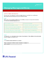 Managing Marriage & Money Workbook