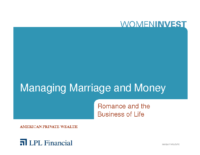 Managing Marriage & Money