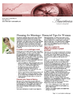 Planning for Marriage – Financial Tips for Women