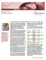 Social Security – What Should You Do at Age 62