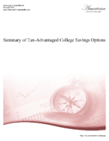 Summary of Tax-Advantaged College Savings Options