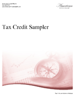 Tax Credit Samples