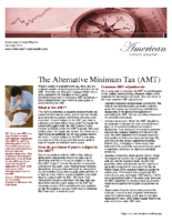 The Alternative Minimum Tax (AMT)