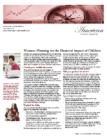 Women – Planning for the Financial Impact of Children