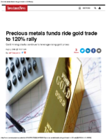 Precious metals funds ride gold trade to 120% rally –  Investment News Aug 5 2016