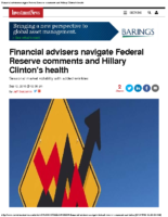 Financial advisers navigate Federal Reserve comments and Hillary Clinton's health