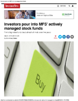 Investors Pour into MFS Actively Managed Stock Funds-Investment News Sep 21, 2016