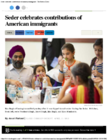 Seder Celebrates American Immigrants
