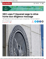 SEC uses F-Squared saga to drive home due diligence message