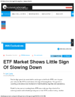ETF Market Shows Little Sign Of Slowing Down – InsuranceNewsNet Dec 15 2016