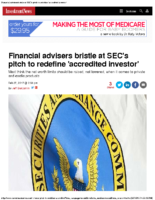 Financial advisers bristle at SEC's pitch to redefine 'accredited investor' – Inv News Feb 27 2017