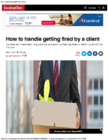 How to handle getting fired by a client – Inv News May 2017