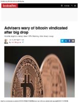 Advisers wary of bitcoin vindicated after big drop – Inv News June 12 2017