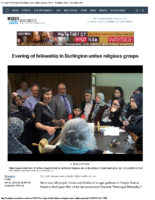 Evening of fellowship in Burlington unites religious groups – Nov 21 2016