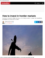 How to invest in frontier markets – Investment News 9-6-17