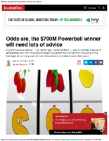 Odds are the $700M Powerball winner will need lots of advice – Inv News Aug 23 2017