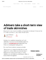Advisers take a short-term view of trade skirmishes – Inv News June 29 2018