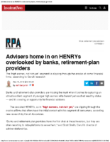 Advisers home in on HENRYs overlooked by banks retirement-plan providers – Inv News Aug 15 2018