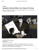 Annuities Pitched With a Free Dinner – Kiplinger Jan 31 2019