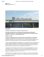 LPL Moves to Protect Future Trail Commissions on Variable Annuities – Wealth Mgmt Jan 24 2019