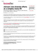 Advisers View Diversity As Complex – Inv News July 26 2019