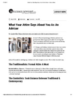 What Your Attire Says About You As An Advisor – AdvisorNews May 31 2019