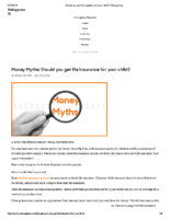 Should you get life insurance for your child – Policygenius July 30 2019