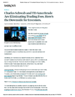 Charles Schwab and TD Ameritrade Eliminate Trading Fees – Barrons Oct 4, 2019