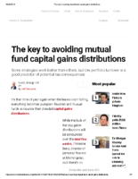 The key to avoiding mutual fund capital gains distributions – Inv News Oct 22 2019