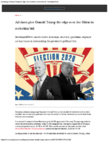 Advisers give Donald Trump the edge over Joe Biden in reelection bid – Investment News Jun 1 2020