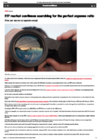 ETF market continues searching for the perfect expense ratio – InvestmentNews July 21 2020